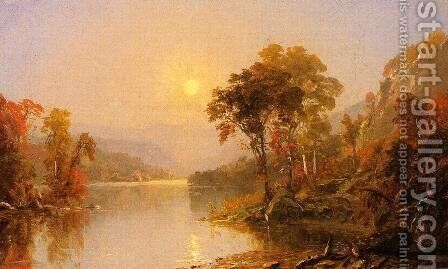 Winding River by Jasper Francis Cropsey - Reproduction Oil Painting
