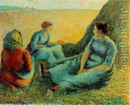 Haymakers at Rest by Camille Pissarro - Reproduction Oil Painting