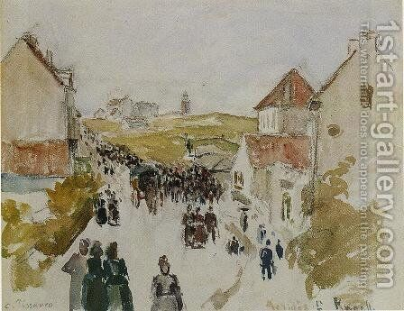 Feast Day in Knokke by Camille Pissarro - Reproduction Oil Painting