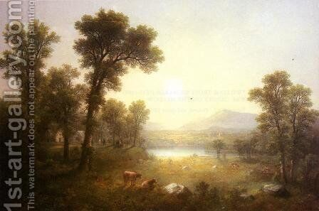 Lake Scene in the Mountains by Asher Brown Durand - Reproduction Oil Painting