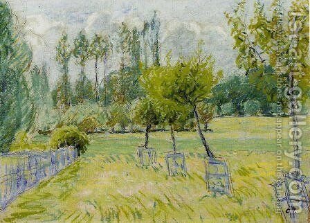 Study of Apple Trees at Eragny by Camille Pissarro - Reproduction Oil Painting