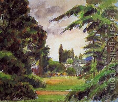 Kew Gardens, the LIttle Greenhouse by Camille Pissarro - Reproduction Oil Painting