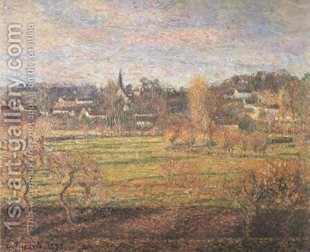 February, Sunrise, Bazincourt by Camille Pissarro - Reproduction Oil Painting