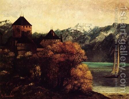 The Chateau de Chillon by Gustave Courbet - Reproduction Oil Painting