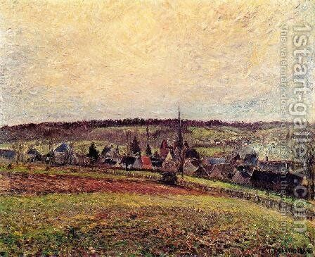 The Village of Eragny I by Camille Pissarro - Reproduction Oil Painting