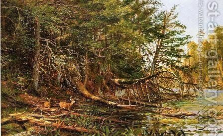 The Outlet of St. Regis Lake by Arthur Fitzwilliam Tait - Reproduction Oil Painting