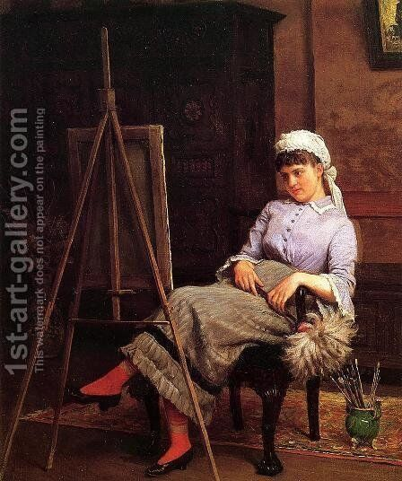 Resting by Edgar Melville Ward - Reproduction Oil Painting