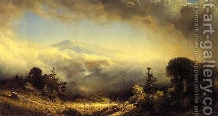 Mounts Madison and Adams near Gorham, New Hampshire by James Fairman - Reproduction Oil Painting