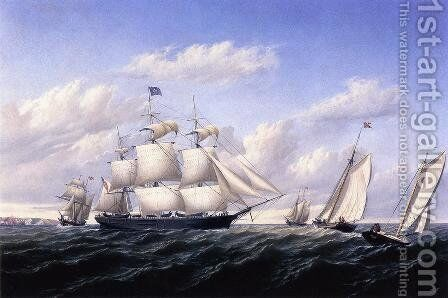 Whaleship 'Speedwell of Fairhaven, Outward Bound off Gay Head by William Bradford - Reproduction Oil Painting