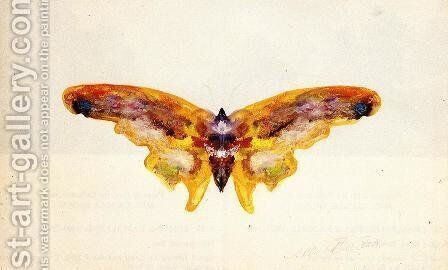 Butterfly I by Albert Bierstadt - Reproduction Oil Painting