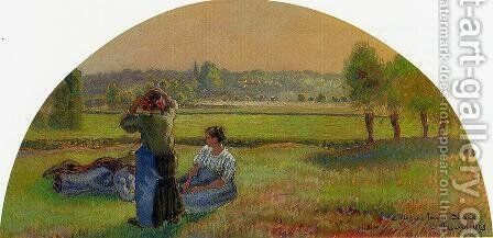 The Siesta in the Fields by Camille Pissarro - Reproduction Oil Painting