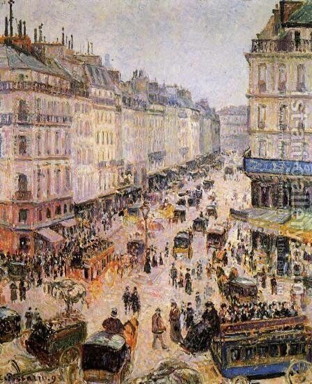Rue Saint-Lazare I by Camille Pissarro - Reproduction Oil Painting