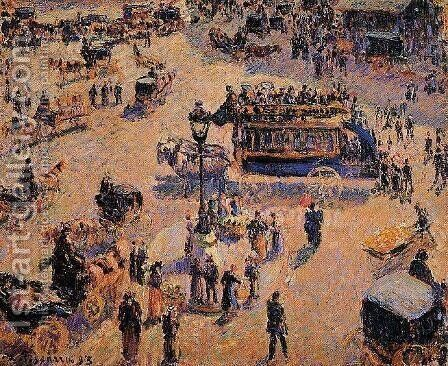 Place Saint-Lazare by Camille Pissarro - Reproduction Oil Painting