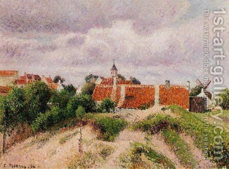 The Village of Knocke, Belgium by Camille Pissarro - Reproduction Oil Painting