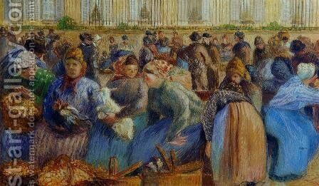 The Egg Market by Camille Pissarro - Reproduction Oil Painting