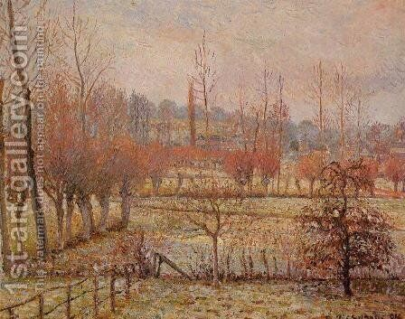 Hoarfrost, Morning by Camille Pissarro - Reproduction Oil Painting