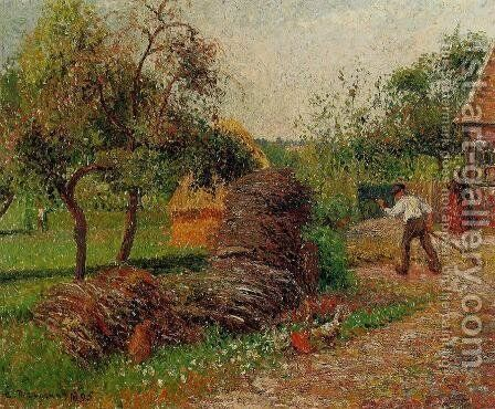 Mother Lucien's Yard by Camille Pissarro - Reproduction Oil Painting