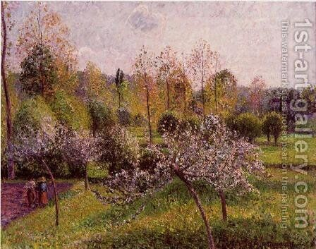 Flowering Apple Trees, Eragny by Camille Pissarro - Reproduction Oil Painting