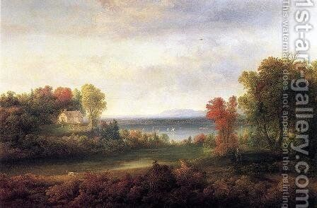 Hudson River Landscape by Thomas Doughty - Reproduction Oil Painting