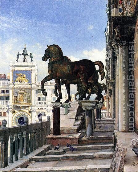 The Bronze Horses of San Marco by Charles Caryl Coleman - Reproduction Oil Painting