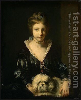 Miss Beatrix Lister by Sir Joshua Reynolds - Reproduction Oil Painting