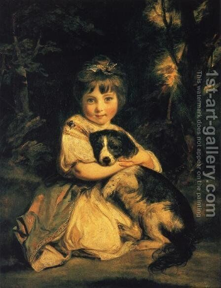 Miss Jane Bowles by Sir Joshua Reynolds - Reproduction Oil Painting