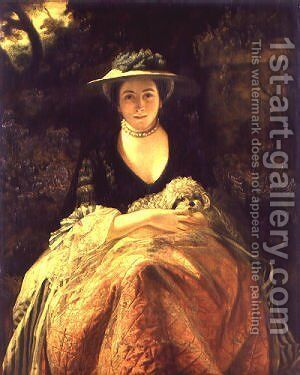 Miss Nelly O'Brien by Sir Joshua Reynolds - Reproduction Oil Painting
