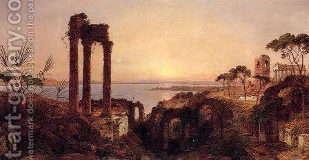 The Bay of Naples by Jasper Francis Cropsey - Reproduction Oil Painting