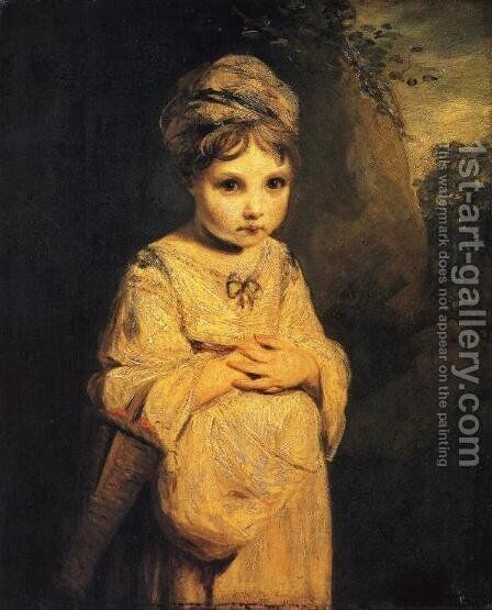 The Strawberry Girl by Sir Joshua Reynolds - Reproduction Oil Painting