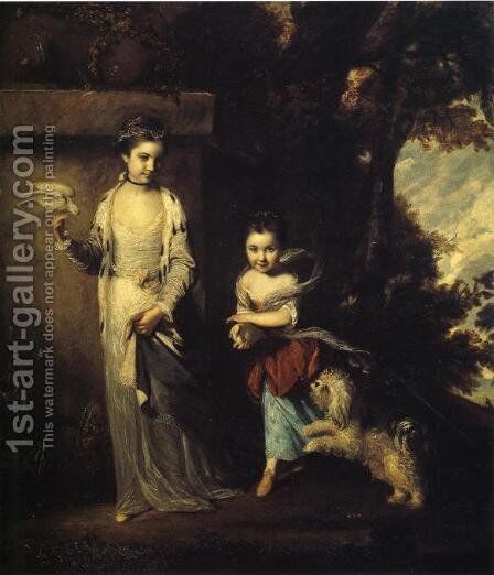 The Ladies Amabel and Mary Jemima Yorke by Sir Joshua Reynolds - Reproduction Oil Painting