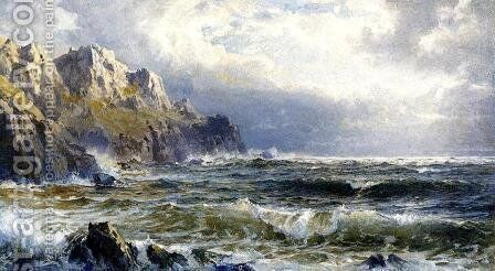 Moye Point, Guernsey, Channel Islands by William Trost Richards - Reproduction Oil Painting