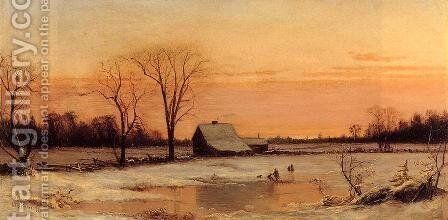 Winter Landscape by Alfred Thompson Bricher - Reproduction Oil Painting