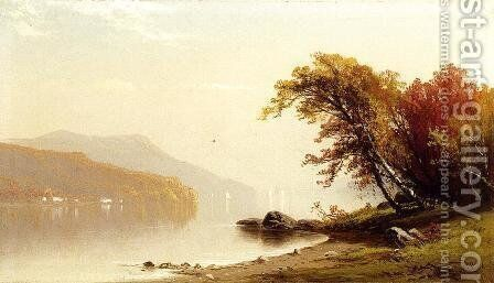 Autumn on the Lake by Alfred Thompson Bricher - Reproduction Oil Painting