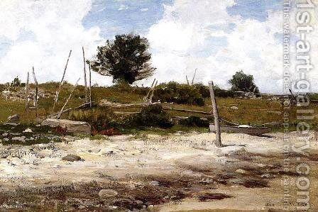 Coastal Landscape by Dwight William Tryon - Reproduction Oil Painting
