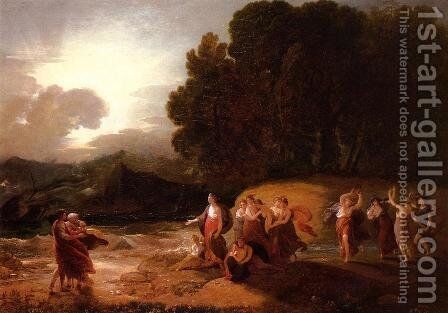 Calypso's Reception of Telemachus and Me by Benjamin West - Reproduction Oil Painting