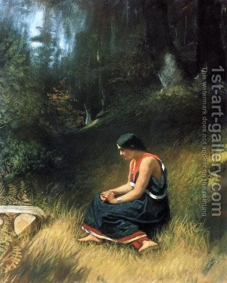 Hiawatha by Eastman Johnson - Reproduction Oil Painting