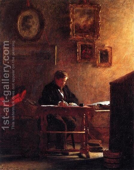 Self Portrait by Eastman Johnson - Reproduction Oil Painting