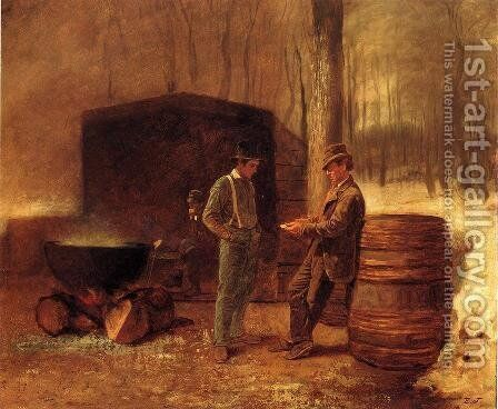 Measurement and Contemplation by Eastman Johnson - Reproduction Oil Painting