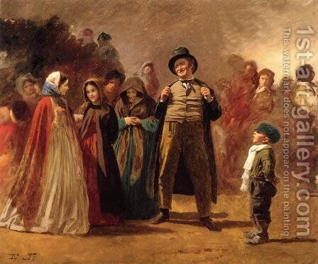 The Story Teller of the Camp by Eastman Johnson - Reproduction Oil Painting