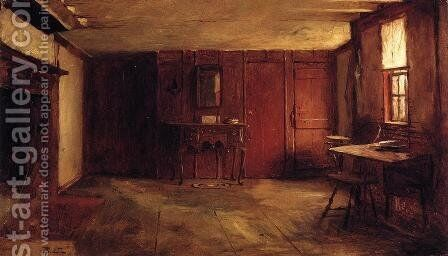 The Other Side of Susan Ray's Kitchen - Nantucket by Eastman Johnson - Reproduction Oil Painting