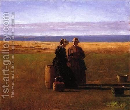 The Conversation by Eastman Johnson - Reproduction Oil Painting