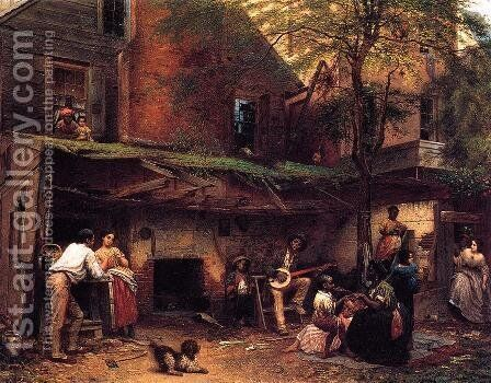 Negro Life in the South by Eastman Johnson - Reproduction Oil Painting