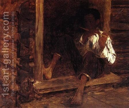 Negro Boy by Eastman Johnson - Reproduction Oil Painting
