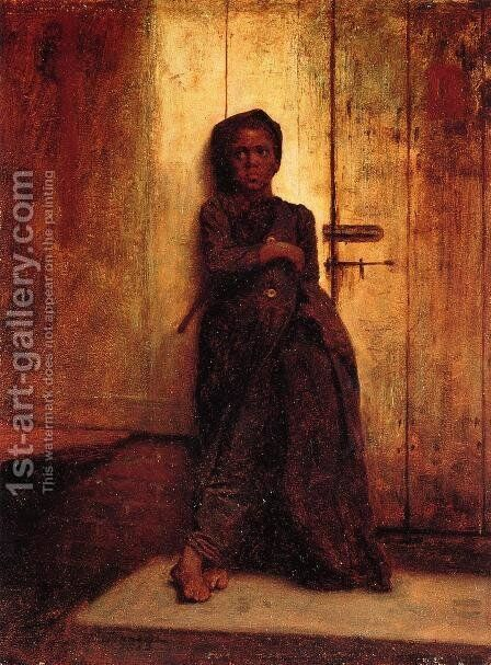 The Young Sweep by Eastman Johnson - Reproduction Oil Painting