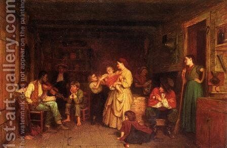Fiddling His Way by Eastman Johnson - Reproduction Oil Painting