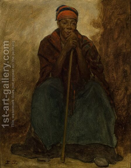 Dinah, Portrait of a Negress by Eastman Johnson - Reproduction Oil Painting