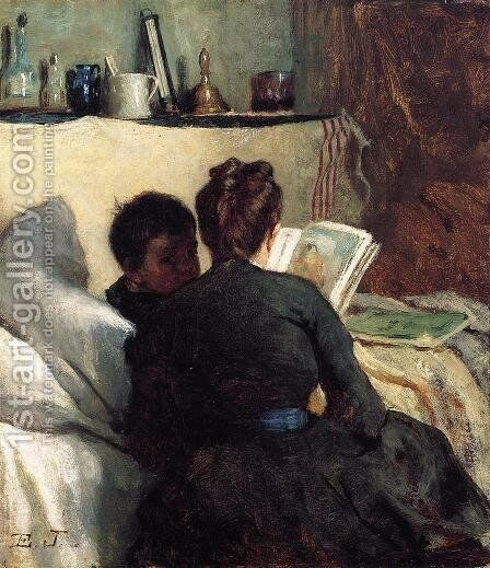 The Little Convalescent by Eastman Johnson - Reproduction Oil Painting