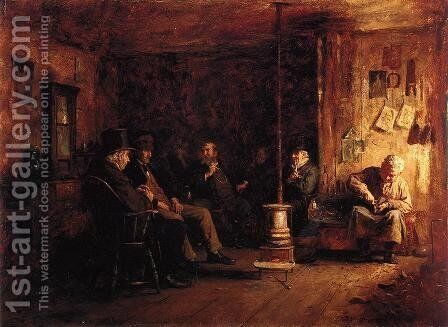 The Nantucket School of Philosophy by Eastman Johnson - Reproduction Oil Painting