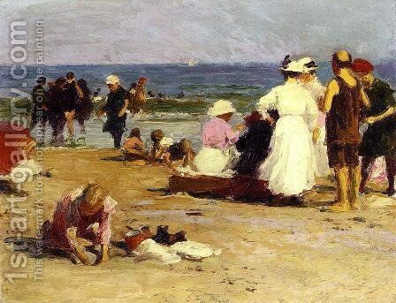 Bathers in the Surf by Edward Henry Potthast - Reproduction Oil Painting