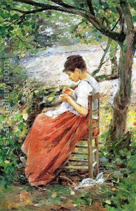 The Layette I by Theodore Robinson - Reproduction Oil Painting